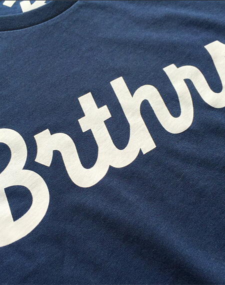 brthrs t-shirt close up blue