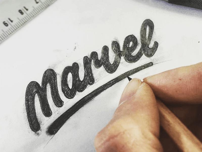 marvel app sketch logo