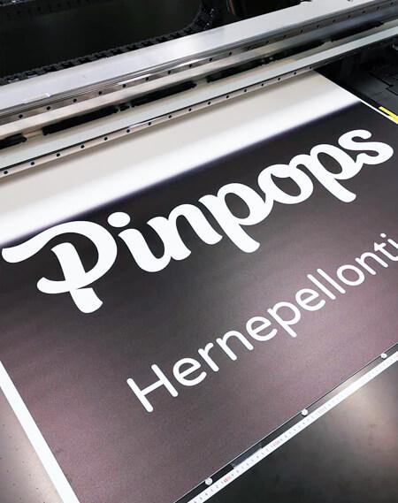 Pinpops print sign