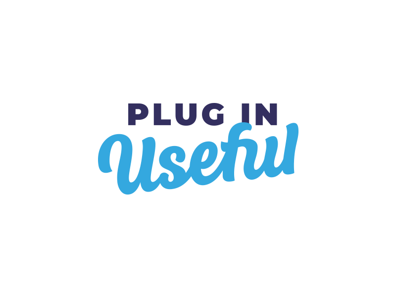 Plug in Useful logotype