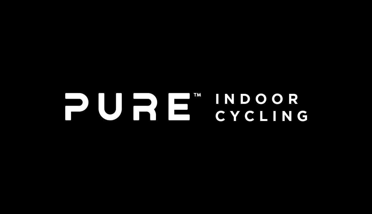 pure indoor cycling full logotype and slogan text