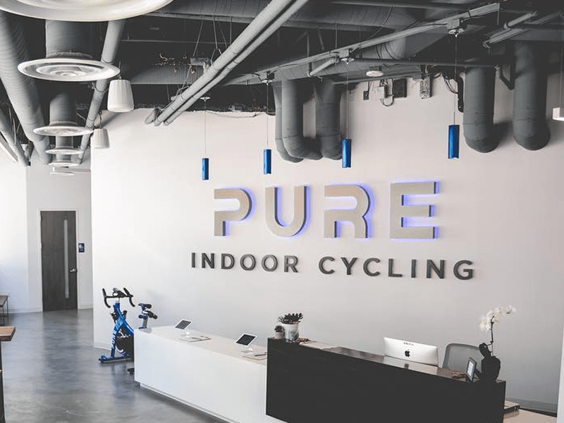 PURE INDOOR CYCYLING LOGO SIGN