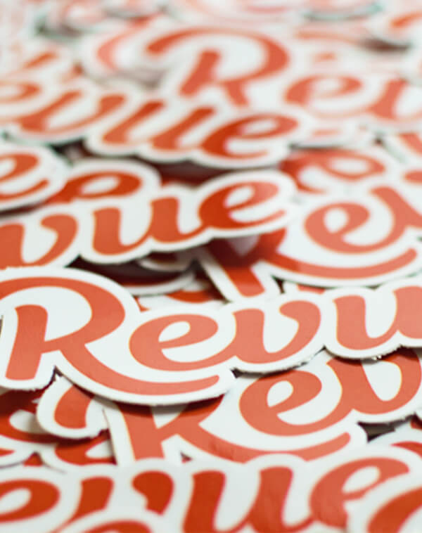 Stickers of Revue Logo