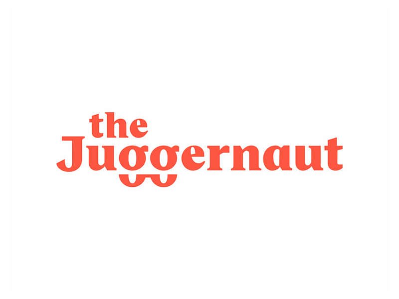 Custom wordmark for the Juggernaut
